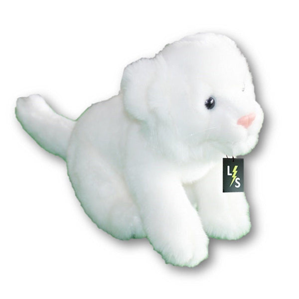 9847e4524df1 Toy - LightningStore Adorable Cute Sitting Baby White Tiger Cub Cat Kitten Stuffed  Animal Doll Realistic
