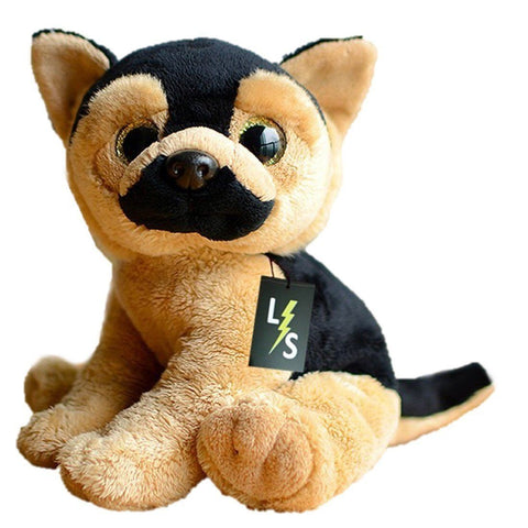 Toy - LightningStore Adorable Cute Sitting Big Eyes Baby German Shepherd Stuffed Animal Doll Realistic Looking Plush Toys Plushie Children's Gifts Animals
