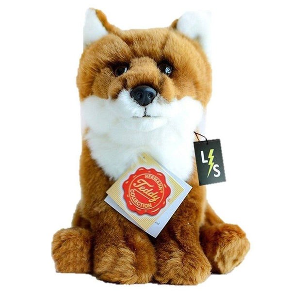 Toy - LightningStore Adorable Cute Sitting Brown And White Fox Firefox Doll Realistic Looking Stuffed Animal Plush Toys Plushie Children's Gifts Animals