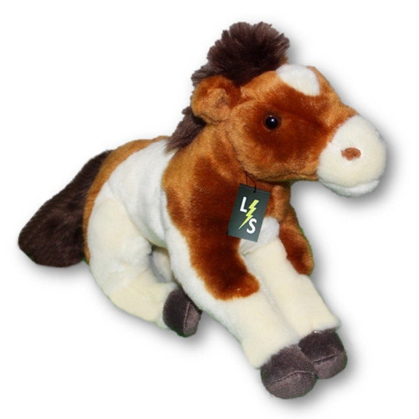 Toy - LightningStore Adorable Cute Sitting Brown And White Horse Pony Stuffed Animal Doll Realistic Looking Plush Toys Plushie Children's Gifts Animals