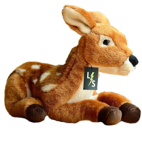 Toy - LightningStore Adorable Cute Sitting Deer Baby Stuffed Animal Doll Realistic Looking Plush Toys Plushie Children's Gifts Animals