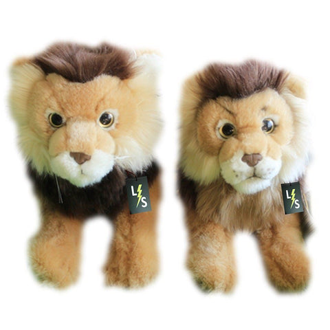 Toy - LightningStore Adorable Cute Sitting Lion Brothers Stuffed Animal Doll Realistic Looking Plush Toys Plushie Children's Gifts Animals