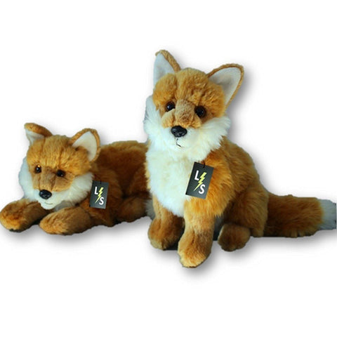 Toy - LightningStore Adorable Cute Sitting Lying Sleeping Fox Wolf Stuffed Animal Doll Realistic Looking Plush Toys Plushie Children's Gifts Animals