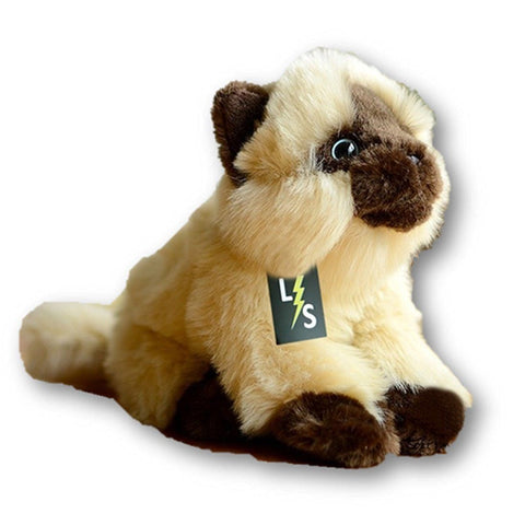 Toy - LightningStore Adorable Cute Sitting Siamese Tonkinese Snowshoe Himalayan Balinese Seychellois Cat Kitten Stuffed Animal Doll Realistic Looking Plush Toys Plushie Children's Gifts Animals