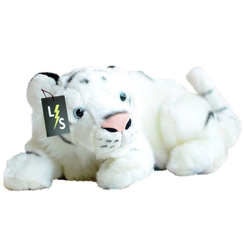 Toy - LightningStore Adorable Cute Sleeping Lying Bengal White Siberian Tiger Stuffed Animal Doll Realistic Looking Plush Toys Plushie Children's Gifts Animals
