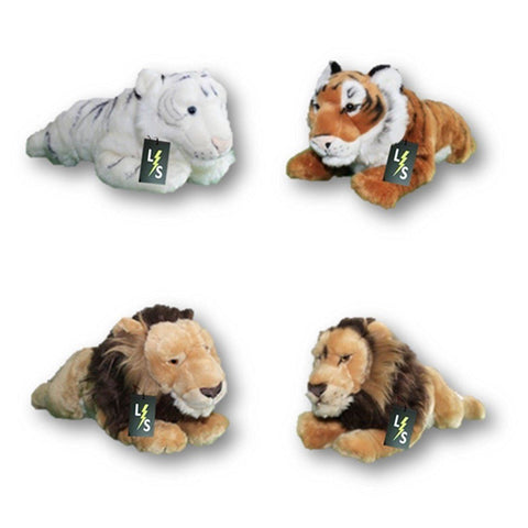 Toy - LightningStore Adorable Cute Sleeping Lying Lion Tiger Brothers Stuffed Animal Doll Realistic Looking Plush Toys Plushie Children's Gifts Animals