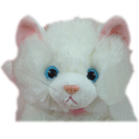 Toy - LightningStore Adorable Cute Sleeping Lying White Cat Kitten Stuffed Animal Doll Realistic Looking Plush Toys Plushie Children's Gifts Animals