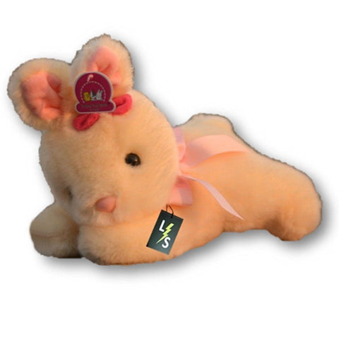 Toy - LightningStore Adorable Cute Sleeping Lying Yellow Pink Bunny Rabbit Stuffed Animal Doll Realistic Looking Plush Toys Plushie Children's Gifts Animals