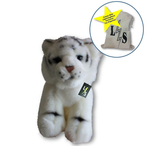 Toy - LightningStore Adorable Cute Small White Bengal Siberian Tiger Stuffed Animal Doll Realistic Looking Plush Toys Plushie Children's Gifts Animals