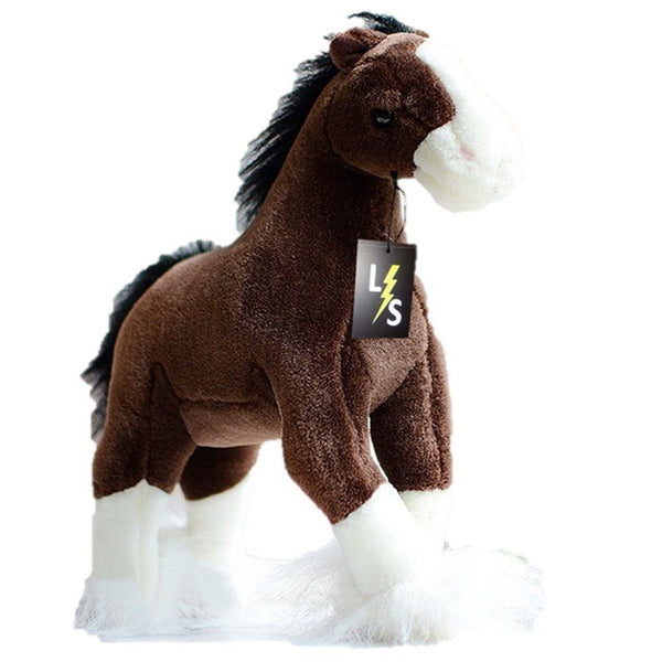 Toy - LightningStore Adorable Cute Standing Brown And White Horse Pony Doll Realistic Looking Stuffed Animal Plush Toys Plushie Children's Gifts Animals