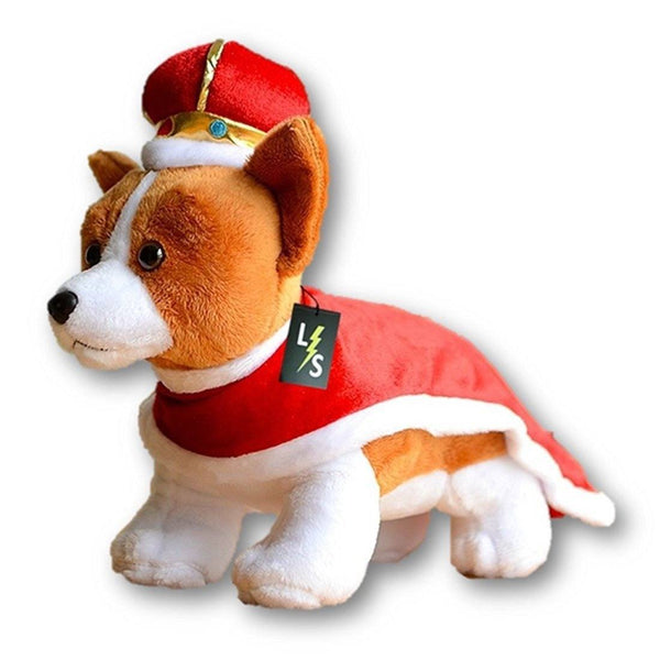 Toy - LightningStore Adorable Cute Standing King Queen Corgi Dog Puppy Stuffed Animal Doll Realistic Looking Plush Toys Plushie Children's Gifts Animals