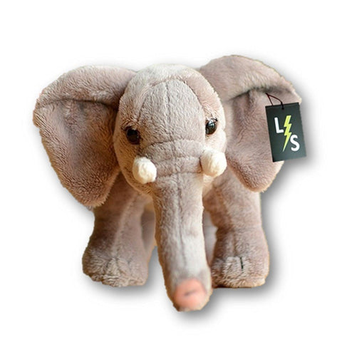 Toy - LightningStore Adorable Cute Standing Purple Elephant Stuffed Animal Doll Realistic Looking Plush Toys Plushie Children's Gifts Animals