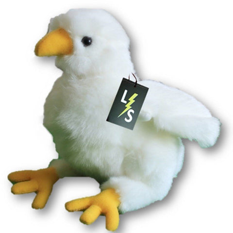 Toy - LightningStore Adorable Cute White Albatross Bird Sea Gull Seagull Chicken Stuffed Animal Doll Realistic Looking Plush Toys Plushie Children's Gifts Animals
