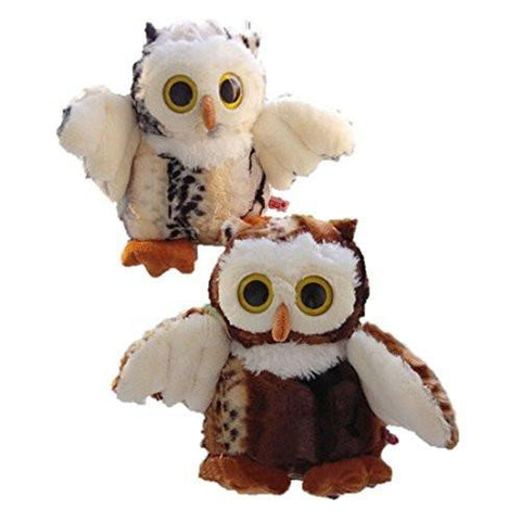 Toy - LightningStore Adorable Cute White And Brown Owl Set Dolls Realistic Looking Stuffed Animal Plush Toys Plushie Children's Gifts Animals