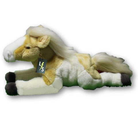 Toy - LightningStore Adorable Cute White And Yellow Pony Horse Stuffed Animal Doll Realistic Looking Plush Toys Plushie Children's Gifts Animals