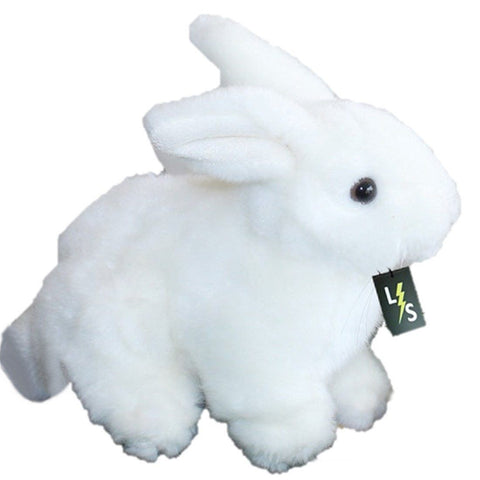 Toy - LightningStore Adorable Cute White Bunny Rabbit Stuffed Animal Doll Realistic Looking Plush Toys Plushie Children's Gifts Animals