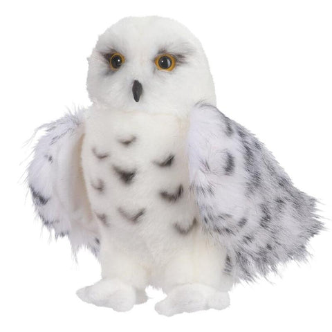 Toy - LightningStore Adorable Cute White Owl Doll Realistic Looking Stuffed Animal Plush Toys Plushie Children's Gifts Animals + Toy Organizer Bag Bundle