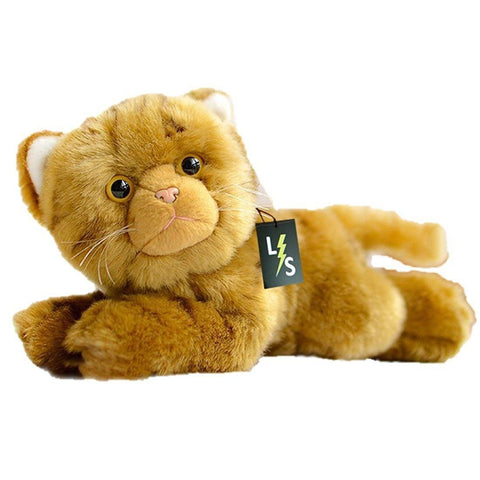 Toy - LightningStore Adorable Cute Yellow And Brown Cat Kitten Doll Realistic Looking Stuffed Animal Plush Toys Plushie Children's Gifts Animals