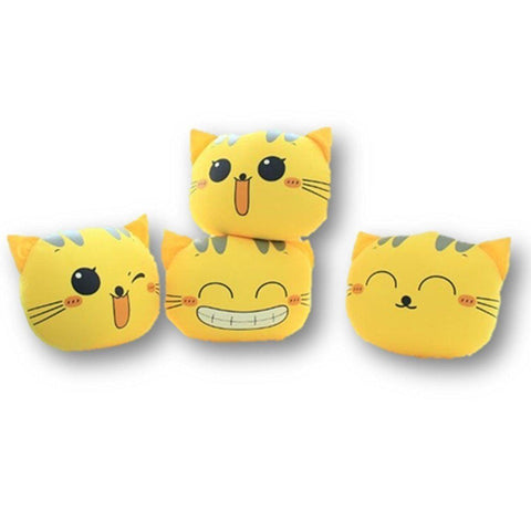 Toy - LightningStore Adorable Cute Yellow Smiling Happy Emotion Cat Kitten Pillow Cushion Stuffed Animal Doll Realistic Looking Plush Toys Plushie Children's Gifts Animals