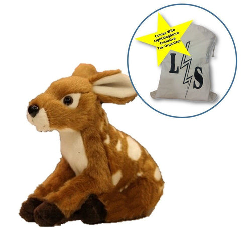 Toy - LightningStore Adorable Deer Doll Realistic Looking Stuffed Animal Plush Toys Plushie Children's Gifts Animals + Toy Organizer Bag Bundle