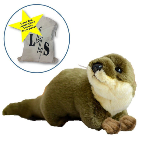 Toy - LightningStore Adorable Otter Beaver Doll Realistic Looking Stuffed Animal Plush Toys Plushie Children's Gifts Animals + Toy Organizer Bag Bundle