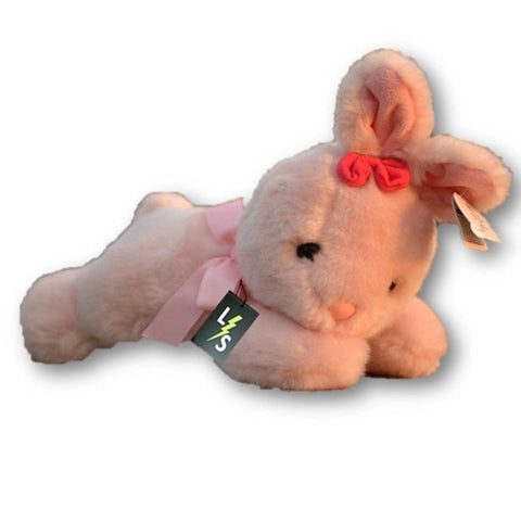 Toy - LightningStore Adorable Pink Yellow Sleeping Lying Bunny Rabbit Stuffed Animal Doll Realistic Looking Plush Toys Plushie Children's Gifts Animals
