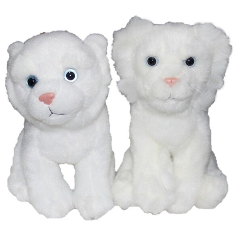 Toy - LightningStore Adorable White Tiger Cub Baby Dolls Realistic Looking Stuffed Animal Plush Toys Plushie Children's Gifts Animals