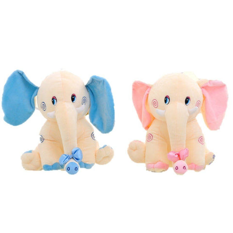 Toy - LightningStore Animal Plush Toy Blue Pink Cream Elephant Doll