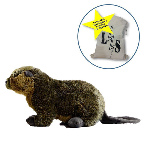 Toy - LightningStore Beaver Dolls Realistic Looking Stuffed Animal Plush Toys Plushie Children's Gifts Animals + Toy Organizer Bag Bundle