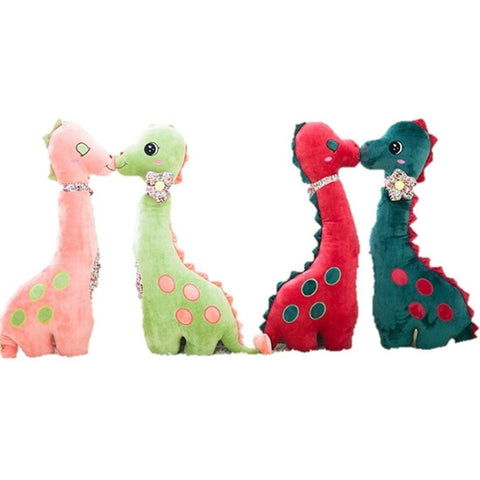 Toy - LightningStore Cute Big Giant Huge Large 80 Cm Pink Red Green Brachiosaurus Dinosaur Doll Realistic Looking Stuffed Animal Plush Toys Plushie Children's Gifts Animals