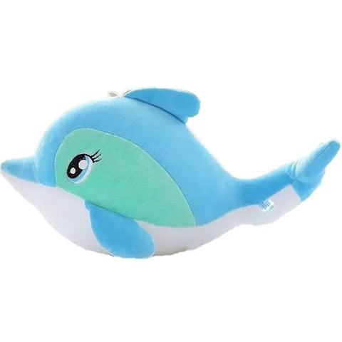 Toy - LightningStore Cute Blue Dolphin Whale Fish Doll Realistic Looking Stuffed Animal Plush Toys Plushie Children's Gifts Animals