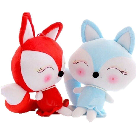 Toy - LightningStore Cute Blue Red Cartoon Fox Wolf Doll Realistic Looking Stuffed Animal Plush Toys Plushie Children's Gifts Animals