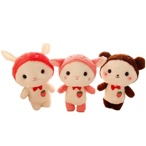 Toy - LightningStore Cute Cartoon Cat Rabbit Bear Sheep Doll Realistic Looking Stuffed Animal Plush Toys Plushie Children's Gifts Animals
