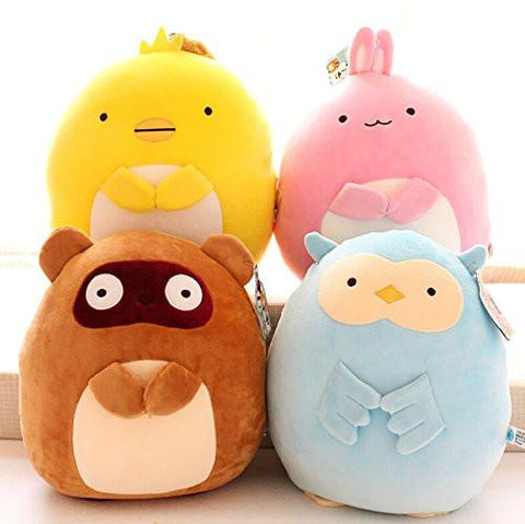 Toy - LightningStore Cute Cartoon Raccoon Chicken Panda Rabbit Owl Doll Realistic Looking Stuffed Animal Plush Toys Plushie Children's Gifts Animals