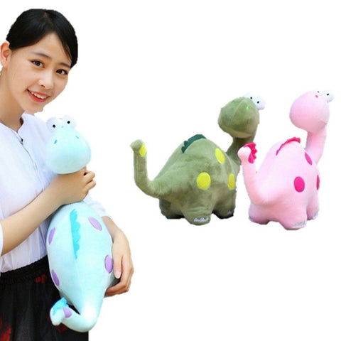 Toy - LightningStore Cute Colorful Blue Green Pink Funny Cartoon Backward Looking Brachiosaurus Dinosaur Doll Realistic Looking Stuffed Animal Plush Toys Plushie Children's Gifts Animals