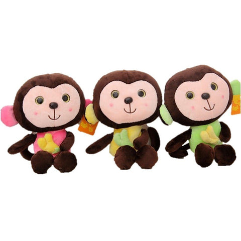 Toy - LightningStore Cute Colorful Green Yellow Pink Brown Monkey Doll Stuffed Animal Plush Toys Plushie Children's Gifts Animals