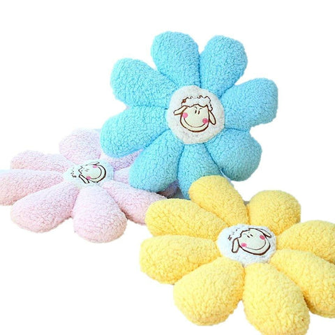 Toy - LightningStore Cute Colorful Pink Blue Yellow Sheep Lamb Cushion Chair Decoration Decor Doll Realistic Looking Stuffed Animal Plush Toys Plushie Children's Gifts Animals