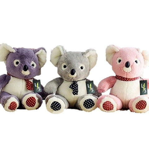 Toy - LightningStore Cute Colorful Pink Gray Grey Purple Koala Doll Realistic Looking Stuffed Animal Plush Toys Plushie Children's Gifts Animals