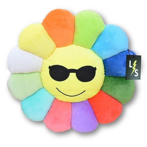 Toy - LightningStore Cute Colorful Rainbow Red Orange Yellow Blue Green Purple Cool Sunglasses Emotion Emoticon Emoji Sunflower Doll Pillow Cushion Realistic Plush Toys Plushie Children's Gifts Animals