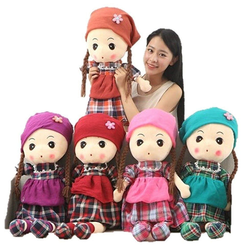 Toy - LightningStore Cute Giant Large Big Huge Girl Wearing Clothes Shirt And Hat Hood Cap Headband Red Pink Purple Pink Orange Green Doll Stuffed Animal Plush Toys Plushie Children's Gifts