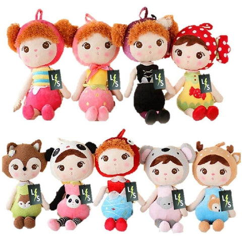 Toy - LightningStore Cute Girl Wearing Elephant Panda Fish Fox Deer Bee Candy Strawberry Clothes Shirt Costume Doll Realistic Looking Stuffed Animal Plush Toys Plushie Children's Gifts Animals