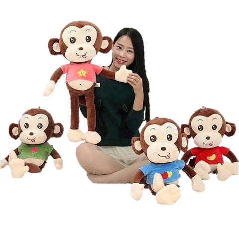 Toy - LightningStore Cute Huge Giant Big Large 70 Cm Long Leg Monkey Wearing Blue Red Pink Green Shirt Monkies Doll Realistic Looking Stuffed Animal Plush Toys Plushie Children's Gifts Animals
