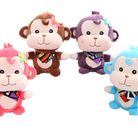 Toy - LightningStore Cute Pink Brown Purple Blue Necktie Monkey Monkies Doll Realistic Looking Stuffed Animal Plush Toys Plushie Children's Gifts Animals