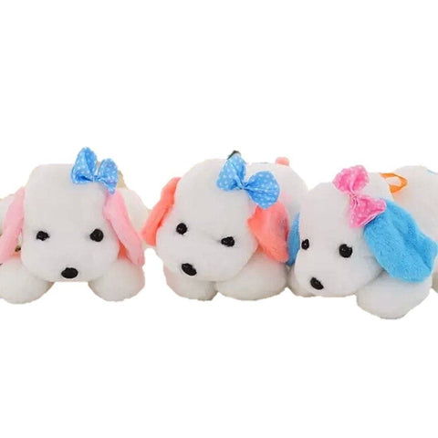 Toy - LightningStore Cute Pink Orange Blue Ear White Dog Puppy Doll Realistic Looking Stuffed Animal Plush Toys Plushie Children's Gifts Animals