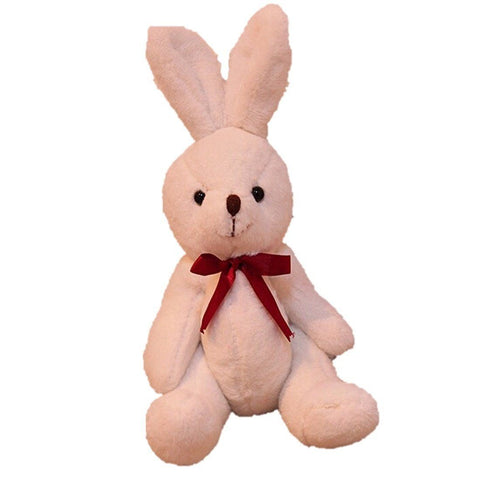 Toy - LightningStore Cute Red Bowtie White Bunny Rabbit Doll Realistic Looking Stuffed Animal Plush Toys Plushie Children's Gifts Animals