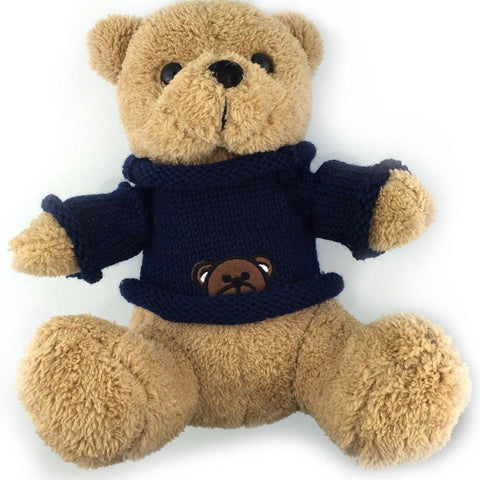 Toy - LightningStore Cute Teddy Bear Wearing Navy Blue Sweater Doll Realistic Looking Stuffed Animal Plush Toys Plushie Children's Gifts Animals