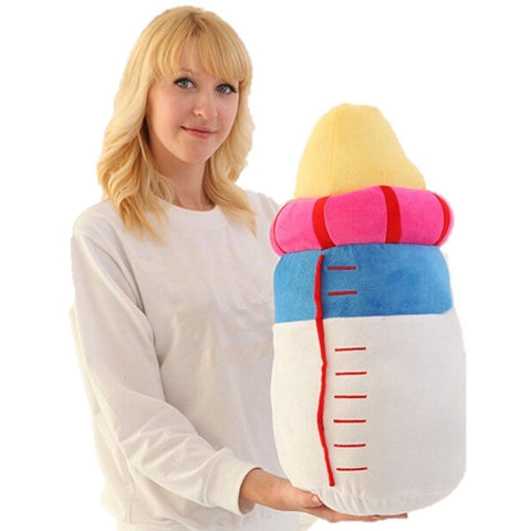 Toy - LightningStore Cute White Blue Pink Yellow Baby Milk Bottle Cushion Doll Realistic Looking Stuffed Animal Plush Toys Plushie Children's Gifts Animals