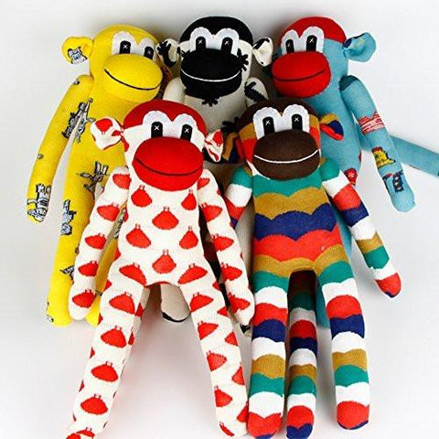 Toy - LightningStore Super Adorable Handmade Colorful DIY Stuffed Sock Monkey Doll Baby Toys - Over 30 Designs To Choose From!!!