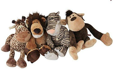 Toy - LightningStore Super Adorable Lion Tiger Giraffe Monkey Brothers Plush Toy Doll For Kids