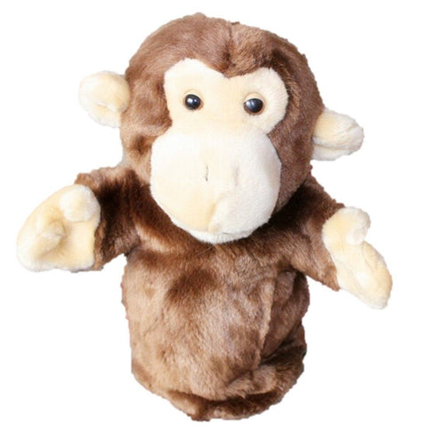 Toy - LightningStore Super Cute Brown Monkey Hand Puppet For Story Telling Bedtime Story Stories Doll Realistic Looking Stuffed Animal Plush Toys Plushie Children's Gifts Animals ...